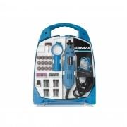 Micro Retífica Gamma C/ Kit Acessórios 252 Peças 127v G19502 1