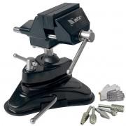 Mini Torno Morsa De Bancada 70mm+ Kit Lima Rotativa 5 Pçs