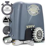 Motor Portão Deslizante Nano 1/4 Turbo 4 Controle 3m Crema 220V