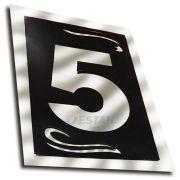 Número 5 Residencial Espelhado Denardi Grande