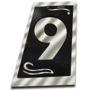 Número 9 Residencial Espelhado Denardi Grande