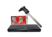 Paquimetro Digital 150mm Aço Inox C/ Estojo Mtx + Kit Allen