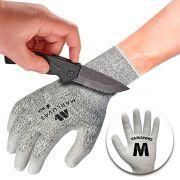 Par Luva De Proteção Anti-corte Máxima Resistência Tricotada M