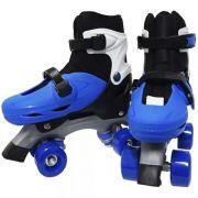 Patins Roller Ajustável Infantil Tamanho 39 A 42 azul