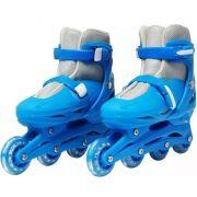 Patins Roller In Line 4 Rodas Infantil Rosa Tamanho 31 34 35 38  Importway
