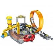 Pista Speedster Pit Stop Looping e 4 Carrinhos Polibrinq