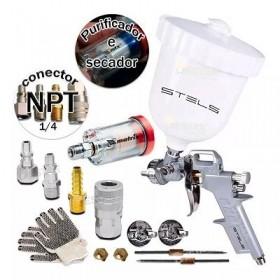 Pulverizadora Pintura P/compressor Gravidade + Filtro Engate Ar