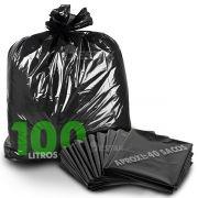 Saco De Lixo 100 Litros Reforçado 5Kg Pacote Fechado