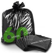 Saco De Lixo 60 Litros Reforçado Preto Pacote 5Kg