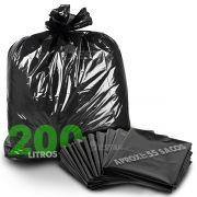 Saco Preto De Lixo 200 Litros Super Reforçado 5kg