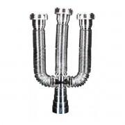 Sifão Universal Triplo Metalizado Extensível e Ajustável