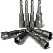Soquete Canhão Parafusadeira Magnético 65mm 5 Unidades
