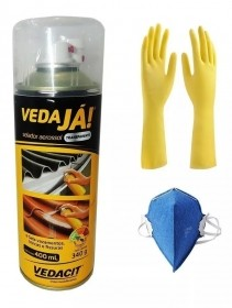 Spray Vedaja Aerossol Transparente Vedacit 400ml + brinde