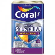 Tinta Acrílica Fosco Proteção Sol & Chuva Premium Branco 18l