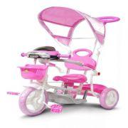 Triciclo Infantil Empurrador Carrinho Menina Passeio Pedalar