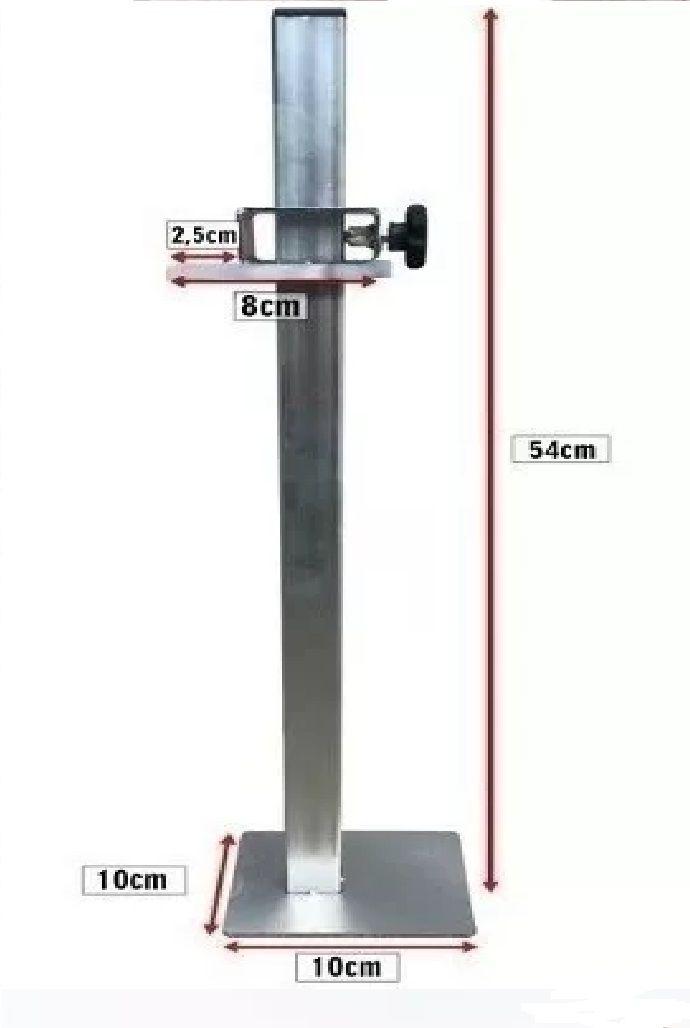 2 Suporte Regulável 2 A 50cm Nivelamento De Régua Em Pisos
