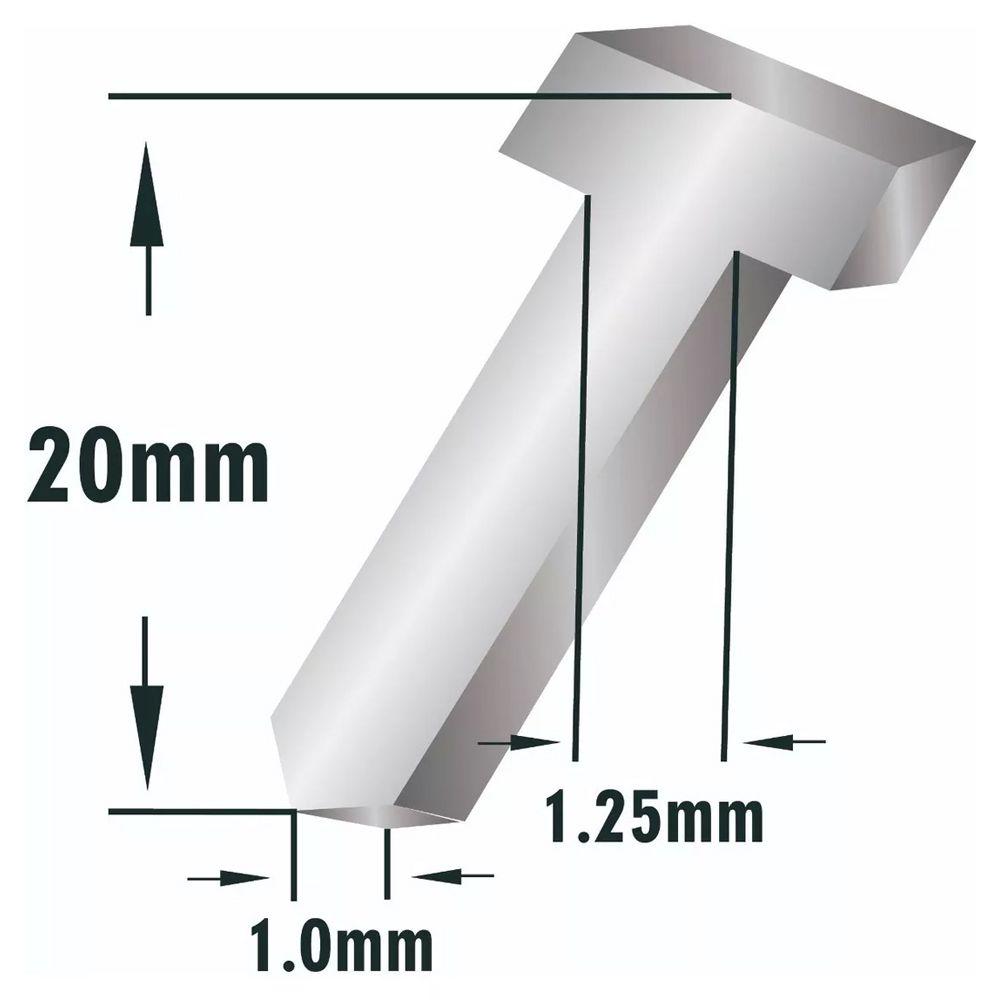 5000 Pinos Cabeça T Pinador Pneumático Profissional 20mm Mtx