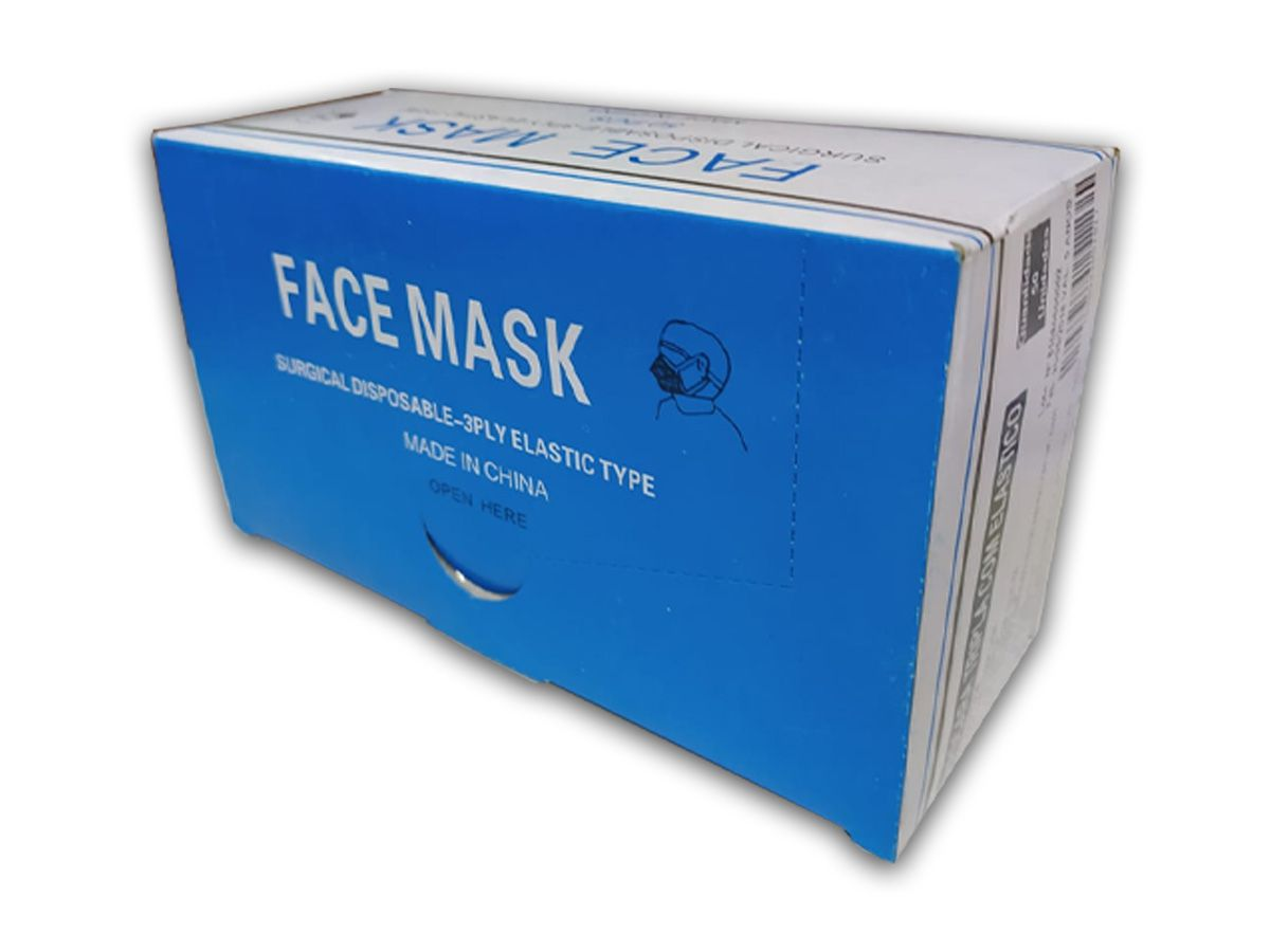 50 Máscaras TNT C/ Elástico Proteção Corona Virus