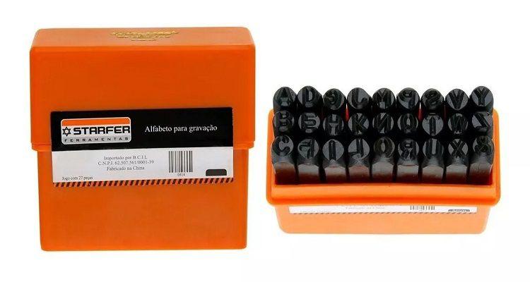 Abcdário De Marcação De Bater Starfer 6mm -