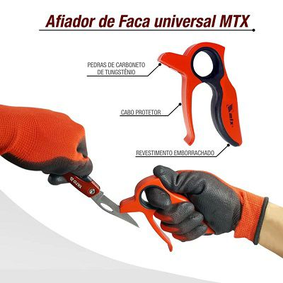 Afiador De Faca Universal Com Proteção Mtx