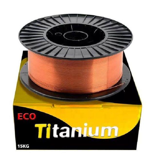 Arame Solda Mig Eco 1.0mm Carretel Rolo 15kg Titanium