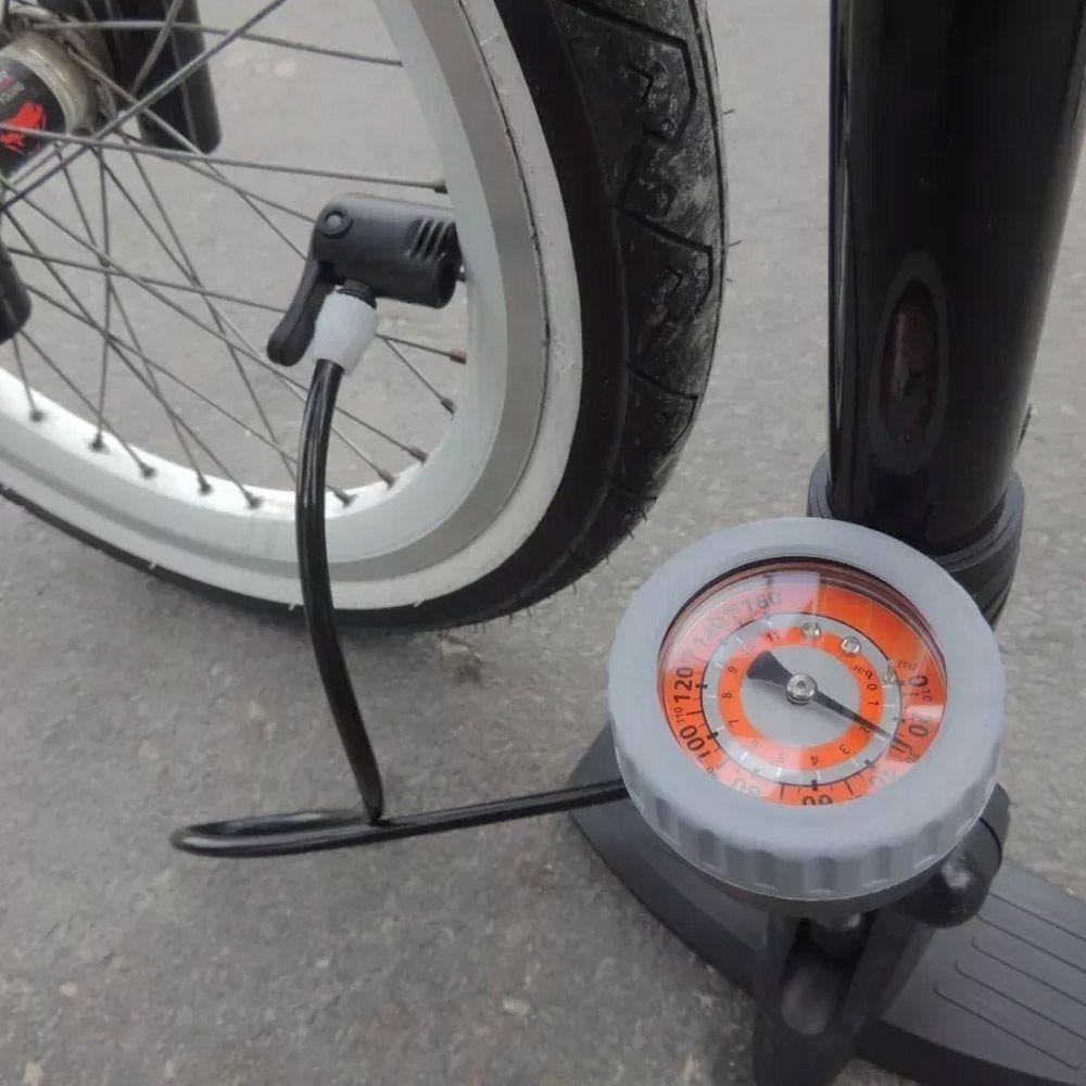 Bomba Ar Pneu Bike Motos Carros Bicicleta Ciclista + Bônus
