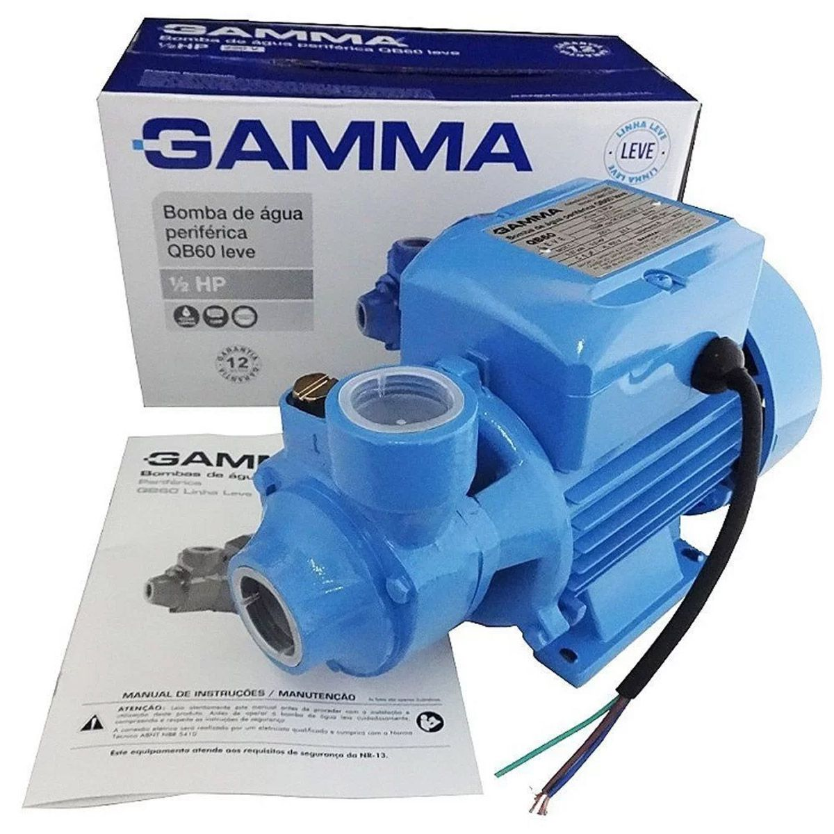 Bomba D`água Periférica 0,5 Cv Qb60 2761 Gamma 220V