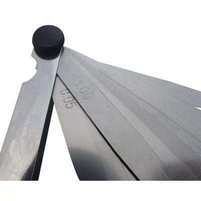 Calibre Calibrador De Folga De Válvula Jogo Com 20 Lâminas