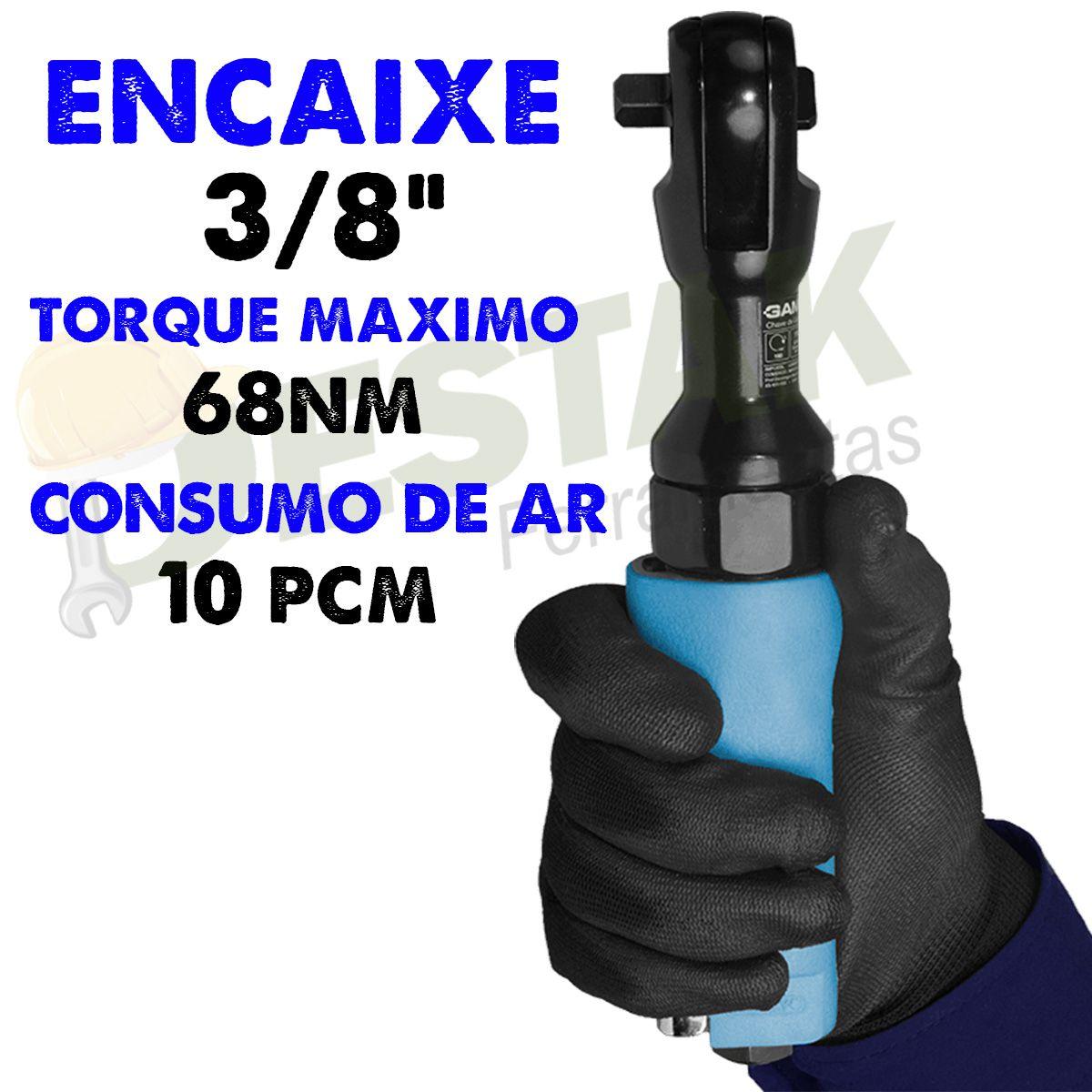 Chave Catraca Pneumática 3/8 G1383/br Gamma