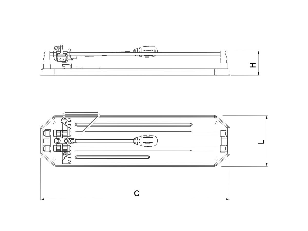 Cortador Pisos Cerâmicos E Porcelanatos 90cm Hd900 C/riscador Tungstênio Cortag + Bônus