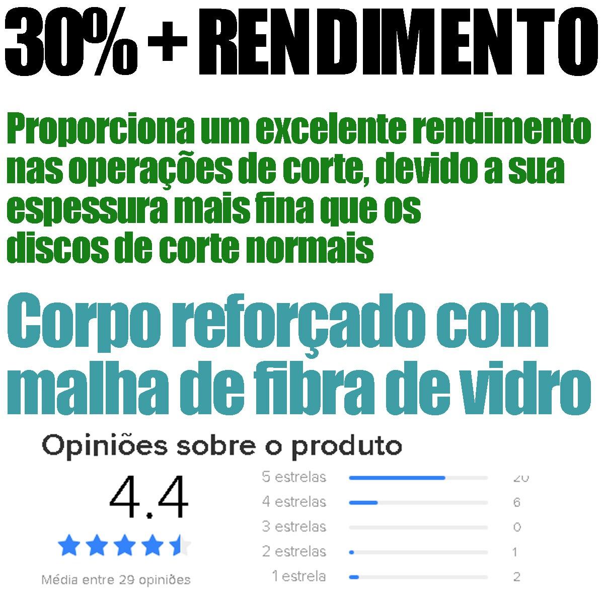 Disco De Corte Aço/inox 4 1/2 100 Peças
