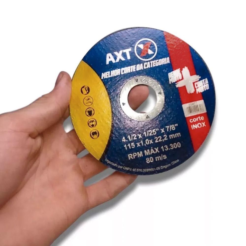 Disco De Corte Super Axt 4.1/2 Esmerilhadeira 20 Pçs