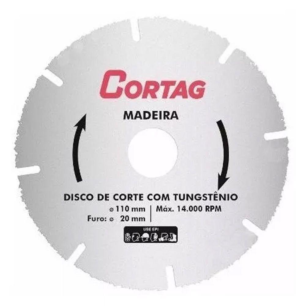 Disco Para Corte Em Madeira Sem Dentes Tungstênio Cortag