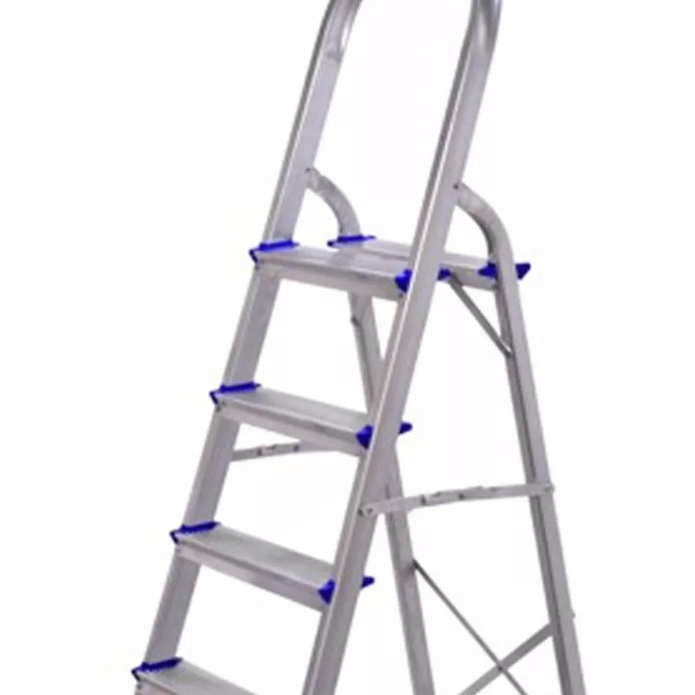 Escada de Alumínio Residencial Real 4 Degraus 120Kg