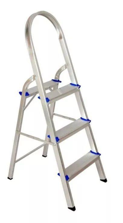 Escada Resistente Até 120kg Alumínio Residencial 3 Degraus