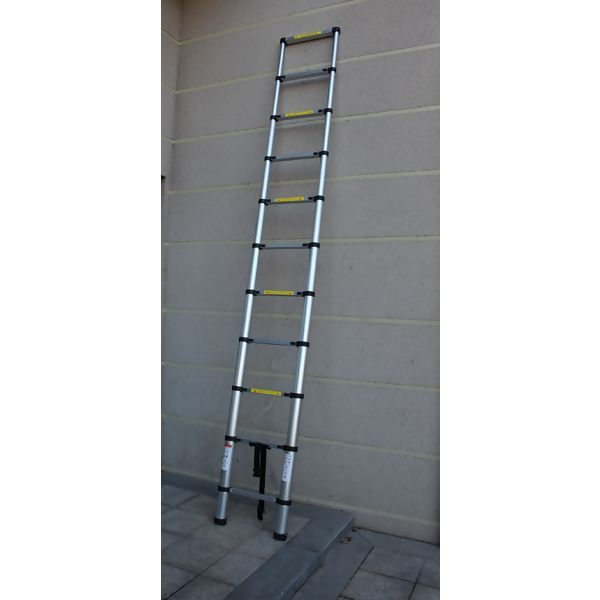 Escada Telescópica Alumínio Multifuncional 3,20 M 10 Degraus