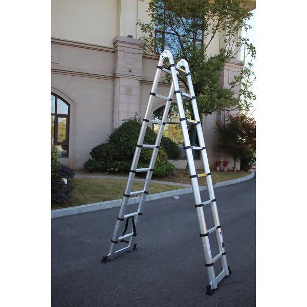 Escada Telescópica De Alumínio 5m Com 16 Degraus excelente