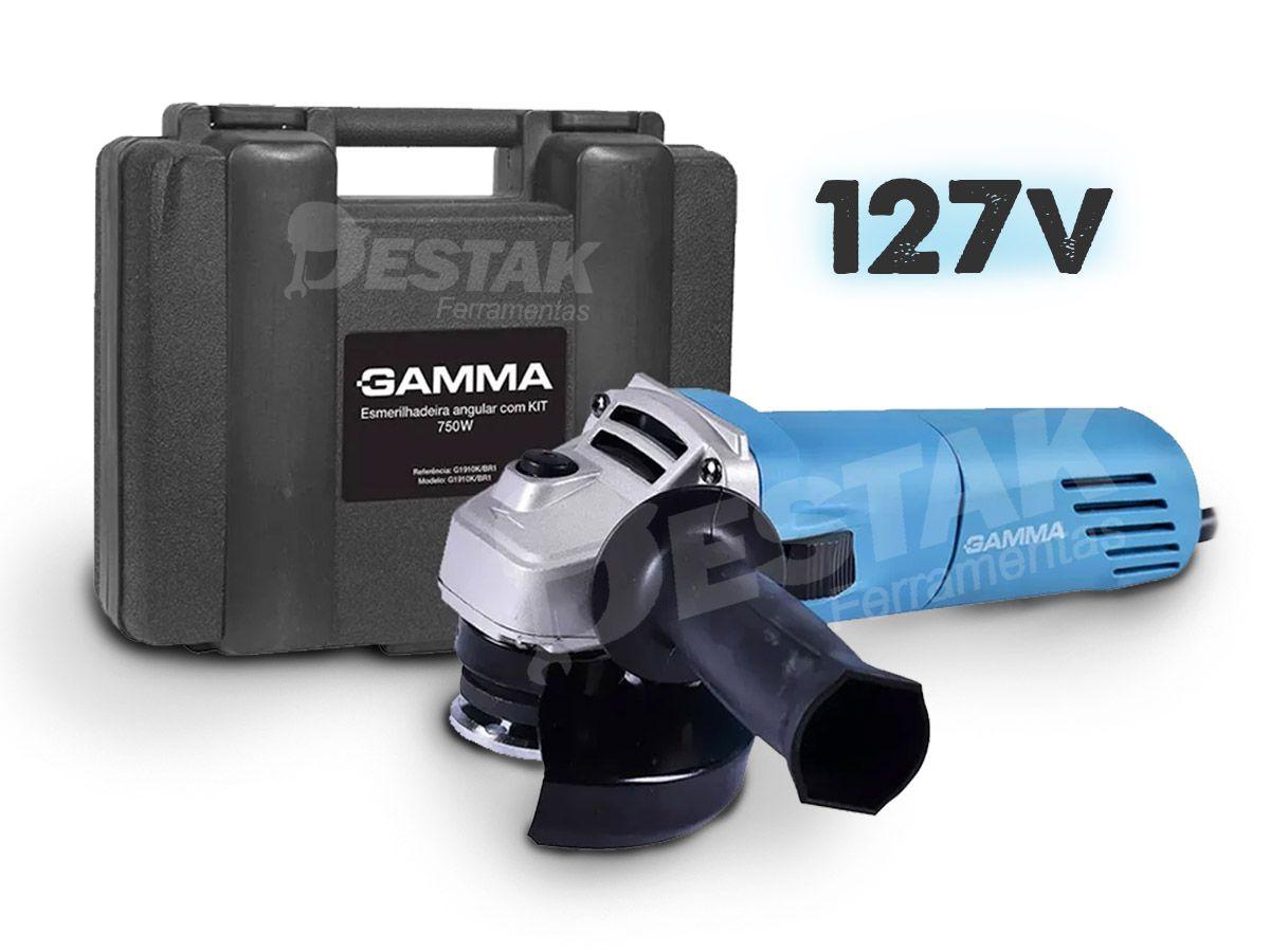Esmerilhadeira Angular 4.1/2'' 750w G1910k Gamma 110v