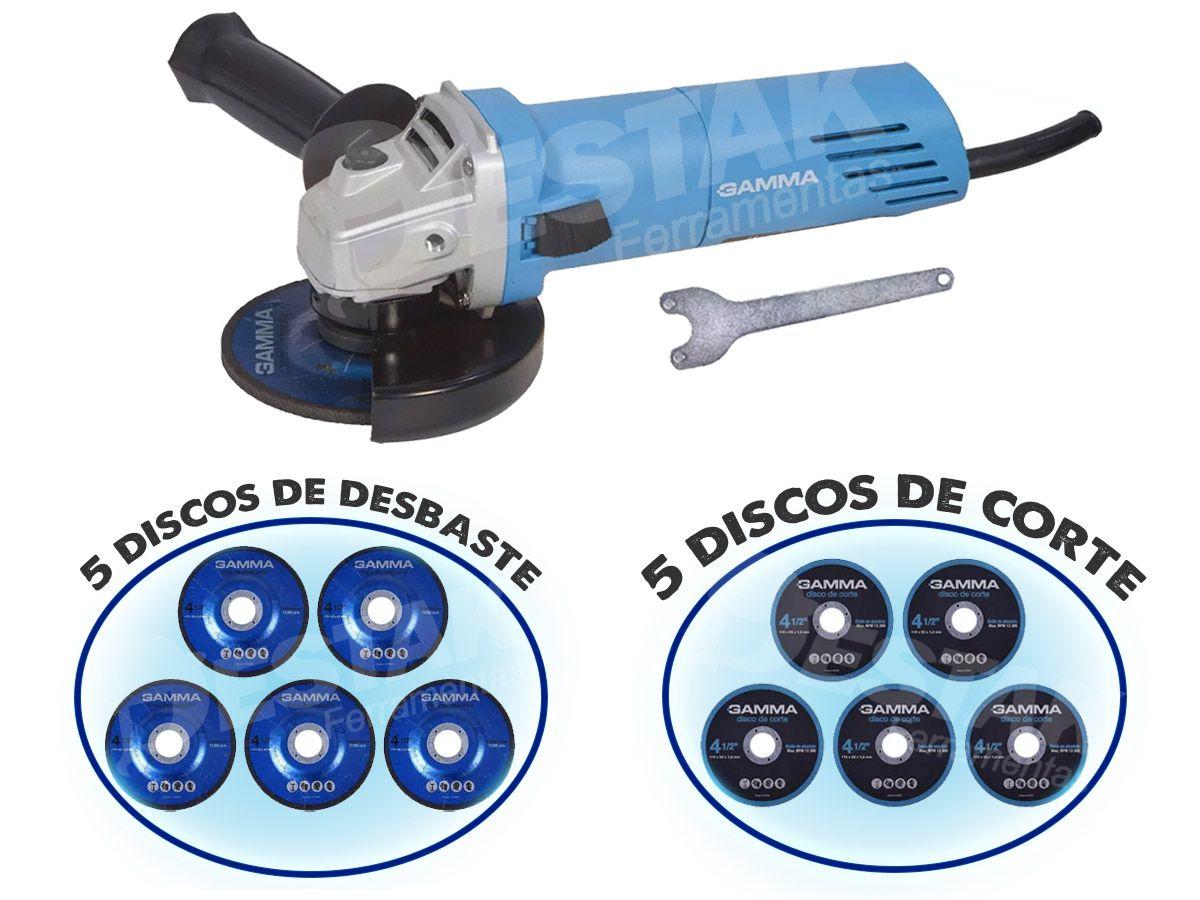 Esmerilhadeira Angular 750w - 220v - Com Discos E Maleta