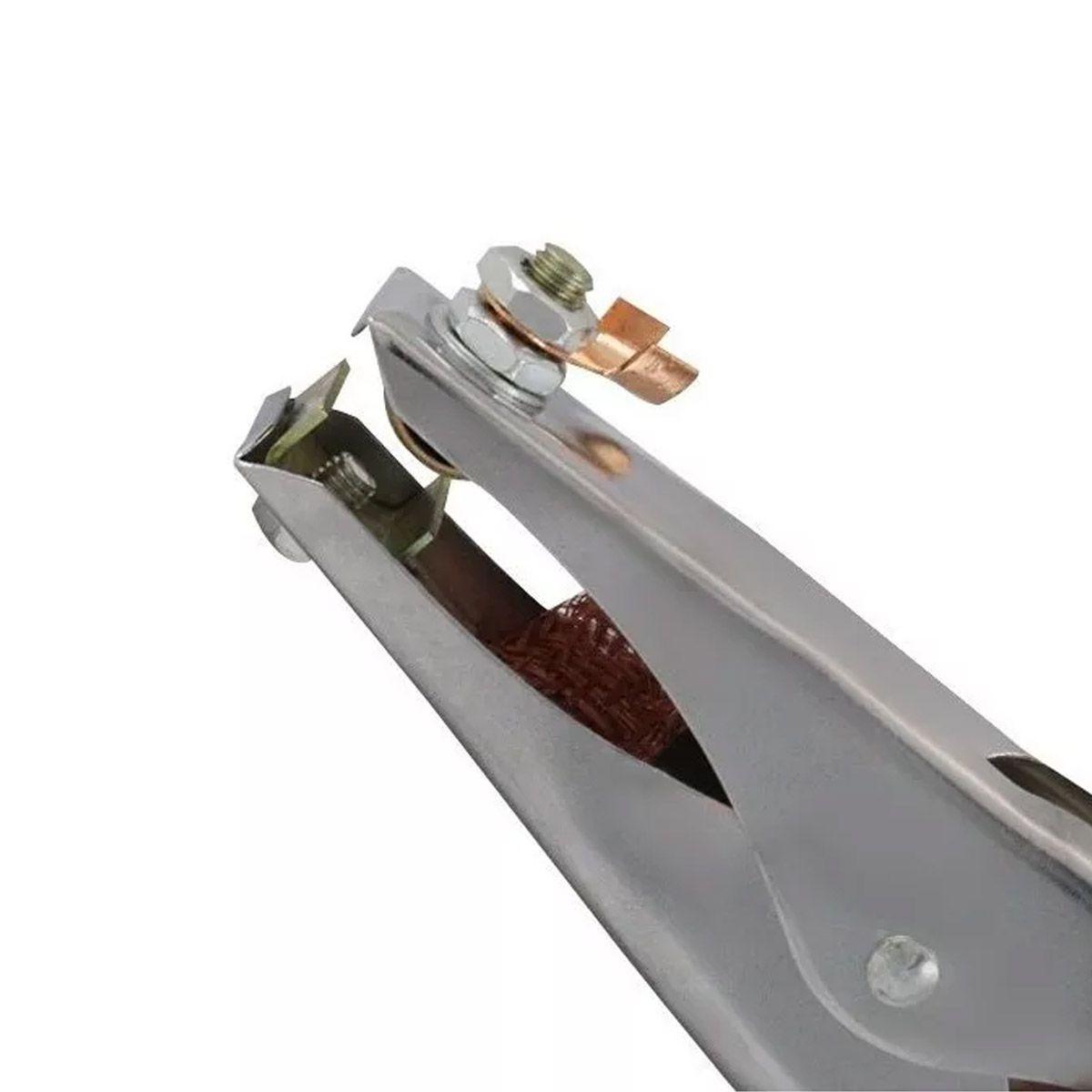 Grampo Terra V8 300 Amperes Garra Negativa Para Solda