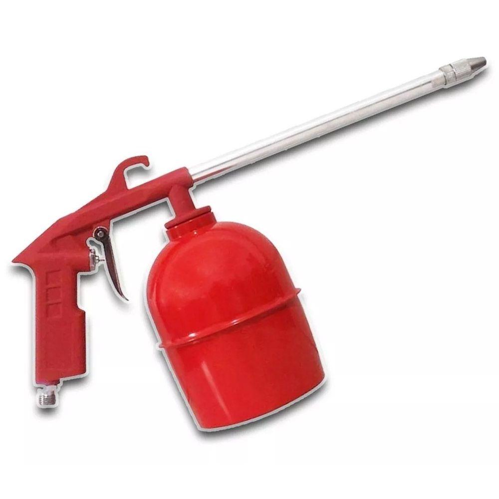 Jogo Compressor Pistola Pneumática Mangueira 5m /5 Peças