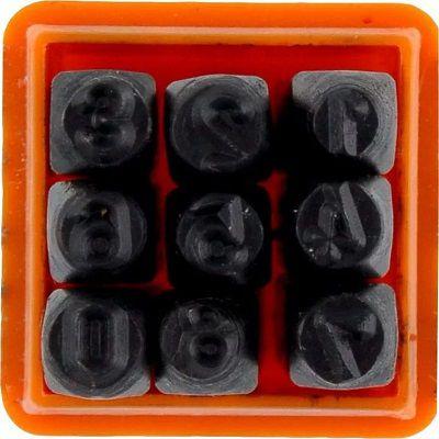 Jogo De Algarismo Numeros Para Gravação 8mm 9 Peças Starfer