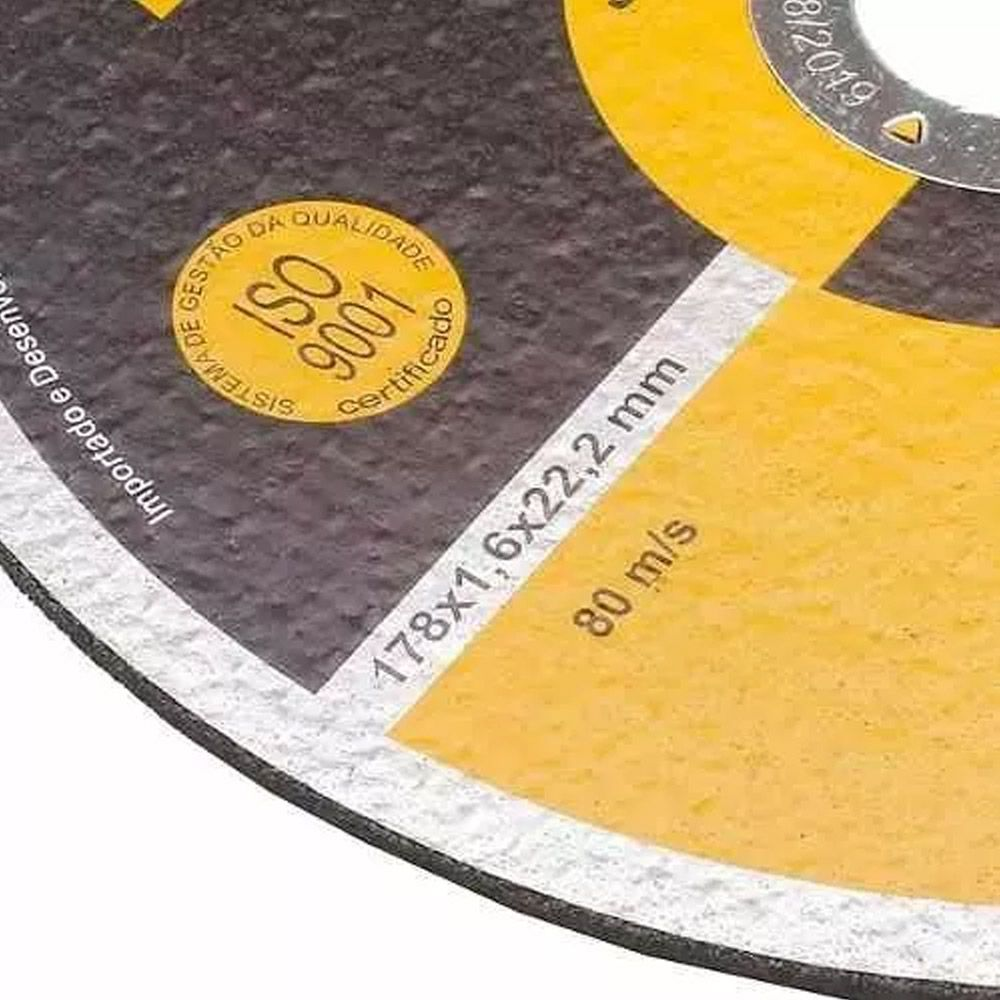 Kit 20 Disco Corte Inox Ferro P/esmerilhadeira 7 Polegadas