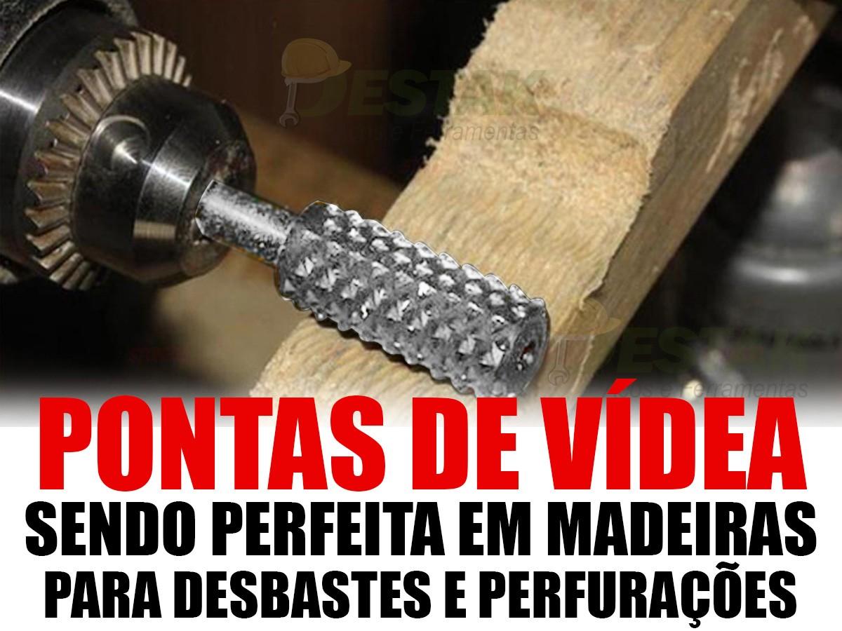 Kit 5 Peças Brocas Fresas Forstner Madeira + Lima Rotativa