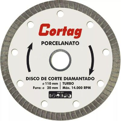 Kit 5x Disco Diamantado Cortag 110mm F20mm  Porcelanato Gold