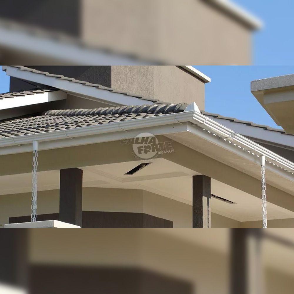 Kit Calha Galvanizado Para Beiral 12 Metros 26pç Calha Forte