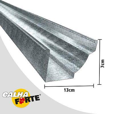 Kit Calha Para 12 Metros Beiral Calha Forte Branco + 52 Peça