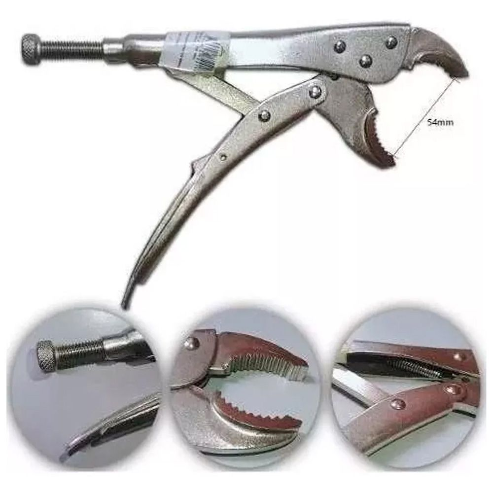 Kit Chave Inglesa Ajustável 8 10 12 18 C/ Alicate De Pressão