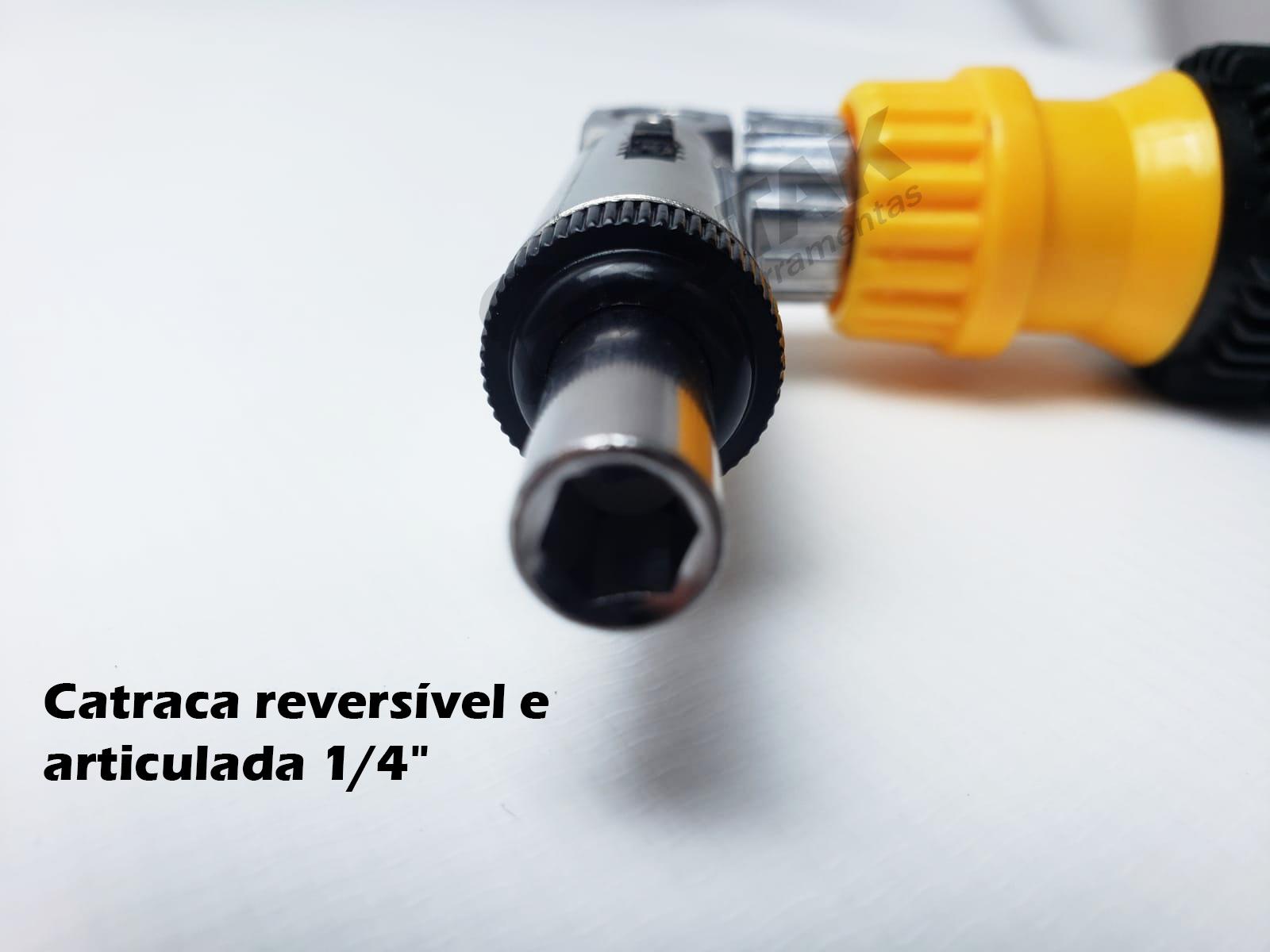 Kit Chave soquete Com Catraca reversivel C/ Cinta Catraca
