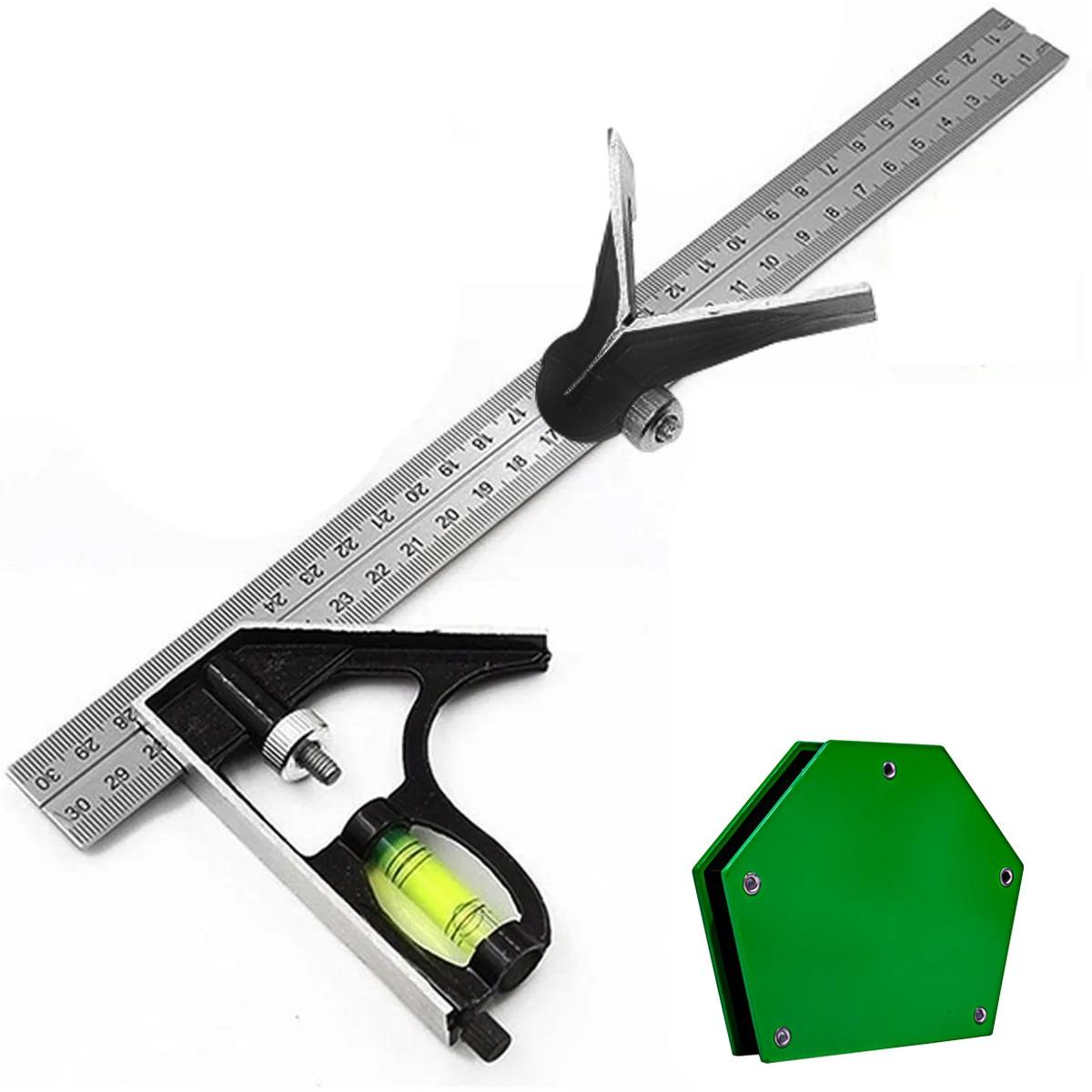 Kit Esquadro Combinado E Magnético Serralheiro